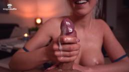 Hot girlfriend handjob with nice cumshot - TheMagicMuffin