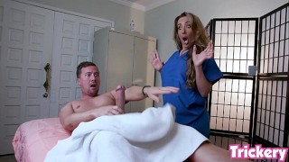 Trickery – Richelle Ryan gives client with a big cock a naughty massage