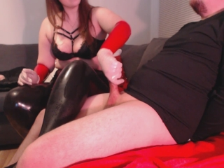 Mean Cheating Wife tells hubby about other guys - latex sph humiliation