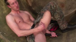 Gay fetish self fuck dildo play
