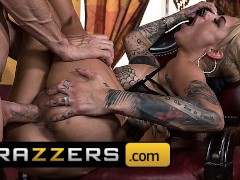 Brazzers - Alt Poolhall scank Bonnie Rotten works the stick