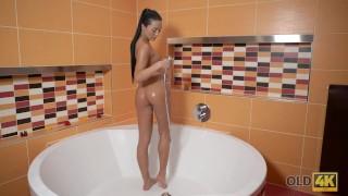 Brunette after princess shower old makes love to boyfriend oldk daddy daughter