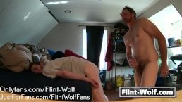 Rough Penetration! Daddy shoves me down! (Onlyfans.com/Flint-Wolf)