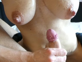 speed handjob with big cumshot as fast as possible