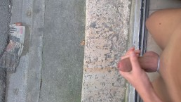 Wank Completely Naked in Street