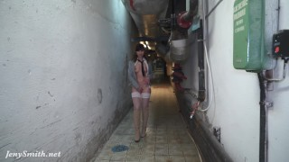Naked Jeny Smith is Hiding and sneaking in the lost corridors