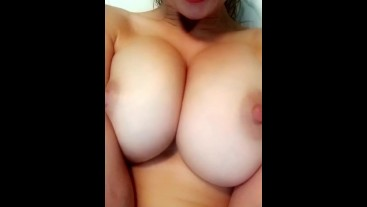 Stuffed my pussy with a huge dildo