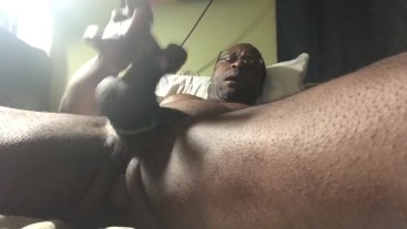 Butt Plug, Trying to Get Hard & Dick Cum