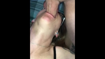 POV Deepthroat Blowjob From Tattooed Hottie!