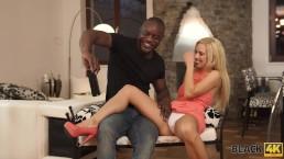 BLACK4K. Blonde Nesty experiences interracial sex with black fucker