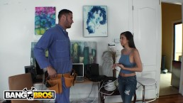 BANGBROS - Nina North Fucks Danny Mountain For A Better Cable Package