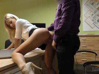 Most Painful Ass Fuck Loan4k. Agent Drills Mouth, Pussy, And Asshole Of Blonde In Office, Blonde