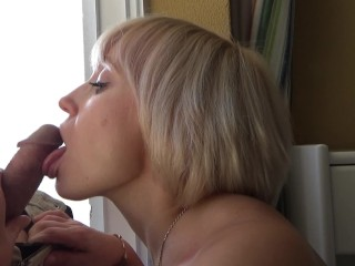 Parody Milf Leyla Lay Sexy Blonde Sensually Sucked Cock To The Hotel Manager. He Cum In
