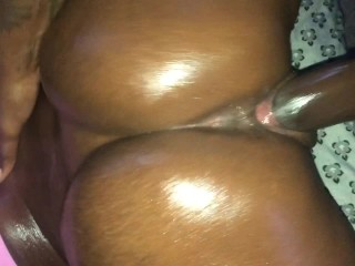 Milf Huge Dick Oil makes everything better