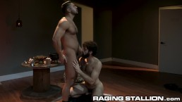 RagingStallion Muscle Hunk Seth Santoro & A Cute Hairy Ass Hole!