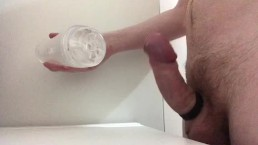 Fucking Clear Fleshlight with Sloppy Creampie