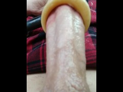 Close Up View Of Venus Sex Machine Rapidly Sucking The Tip Of My Cock