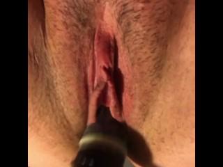 Super Amateur Slut Messing with Sex Machine