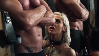 Crazy double penetration foursome with Bonnie Rotten and Kleio Valentien