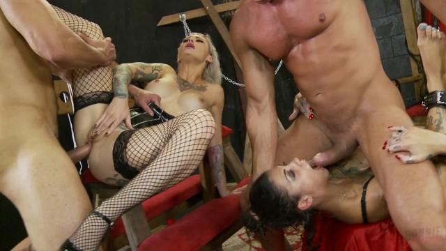 Rotten pornography Crazy double penetration foursome with bonnie rotten and kleio valentien
