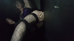 Glory Hole Sucking and Anal Fucking With Creampie for Essex Girl Lisa