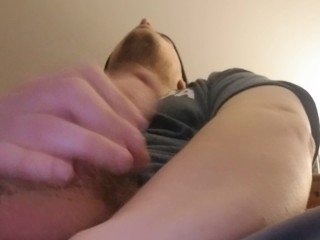 Jacking my cock/ messy ending