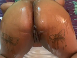 Backshots, Baby Oil, & 1 Big Dick - Almost Couldn't Take It