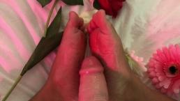 Oily footjob - Cara Vega