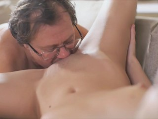 OLD4K. Perfect old and young video featuring sweet blonde angel