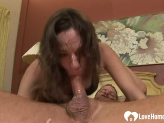 Brunette likes to get shafted in the mouth