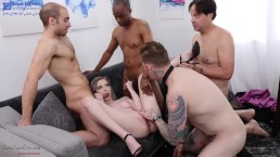 EROTIQUE ENT New boss LEXI LORE demands gangbang teamwork from employees