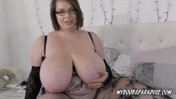 BBW babe Georgina Gee Huge natural tits playing
