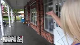 MOFOS - Curvy Blonde gets cream pied In Garage
