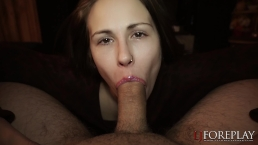 POV Sexy Lip Gloss Blowjob