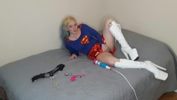 Supergirl Captured with kryptonite and made to cum