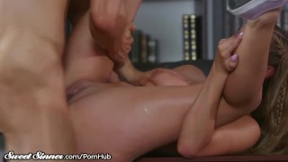 SweetSinner Passionate Hot Sex With Her College Prof. Ass cumshot