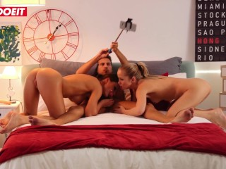 LETSDOEIT – Painting Artist Seduced By Married Couple And Joins A Threesome