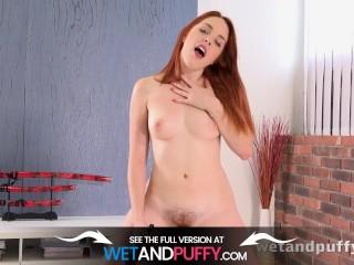 Hairy Pussy Orgasm – Redhead Beauty