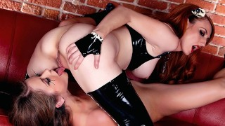 Holly Randall- Latex mistress makes her bound slave cum with vibrating wand