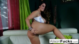 Alison Tyler Shows Off Her Curves and Makes Herself Cum