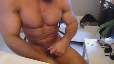 Nude Flexing And Poses With Brock Jacobs in His Private Room