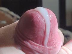 Super zoom cumshot. Young boy jerk off his cock