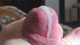 Super zoom cumshot. Young boy jerk off his cock