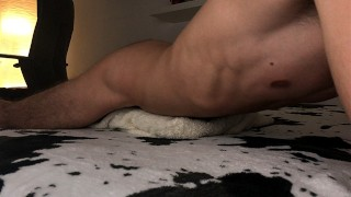 Horny Amateur Guy Moaning While Humping Pillow Until Shaking Orgasm - 4K