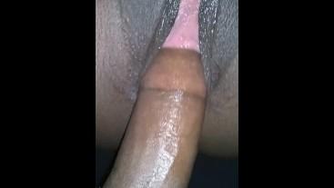 Wet creamy ebony bouncing on bbc