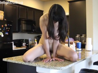 thick cock ride on countertop