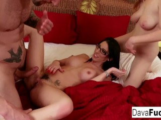 Penny joins step siblings Dava and Alex in a fuckfest