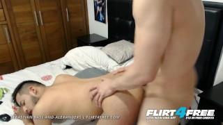 Sebastian Bass and Alexanders L on Flirt4Free - Latinos Having Bareback Fun