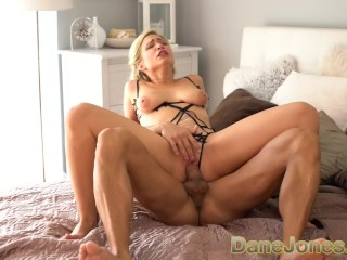 Dane Jones Beautiful blonde German girlfriend Gabi Gold fucked on desk