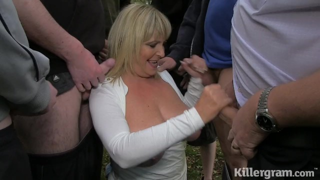 Granny slut porn - Killergram dogging slut granny alisha rhydes sucks of strangers in a field
